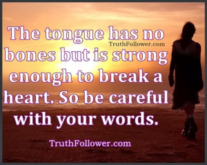 Be Careful with Your Words, Tongue Quotes with Inspirational Pictures
