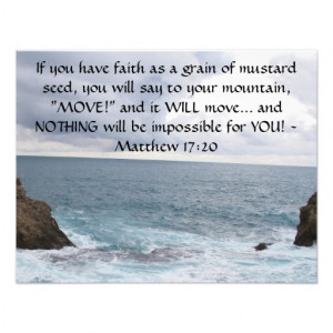 Matthew 17:20 Motivational Bible Quote Invites - Zazzle.com.au
