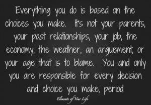 so STOP blaming others!