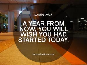 Karen Lamb Action Quotes