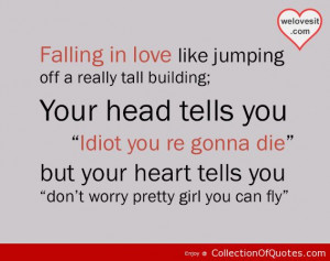 Girl Falling Off A Building Falling in love like jumping