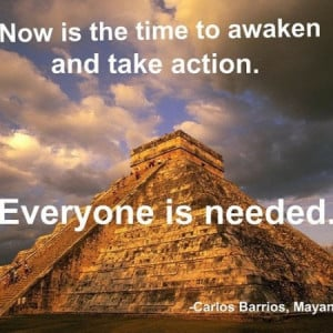 Now is the time to awaken and take action. Everyone is needed.