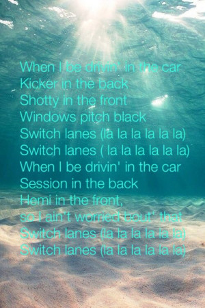 Rittz ft. Mike posner- switch lanes