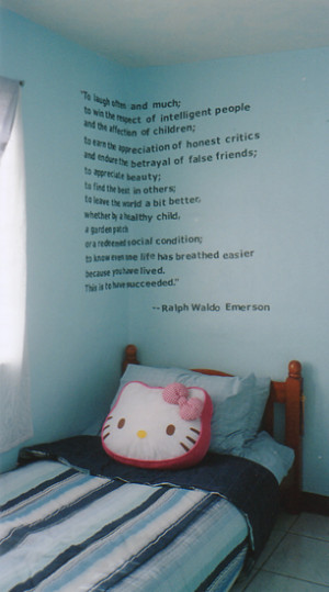 Quotes and Poems – Creative Painting Ideas for Kid's Bedroom
