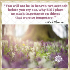 You Will Not Be In Heaven Two Seconds Before You Cry Out Why Did I ...