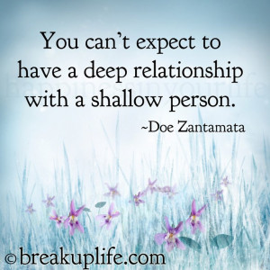 people sowartificial and superficial relationships. Selfish people ...