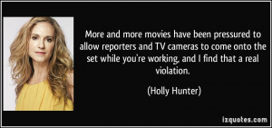 More and more movies have been pressured to allow reporters and TV ...