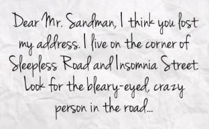 Sarcastic Insomnia Quotes
