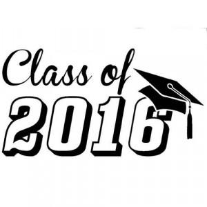 Graduation 2016 Die Cut Vinyl Decal PV251