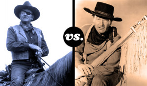Rooster Cogburn and Ethan Edwards Duke It Out in an All-John Wayne ...