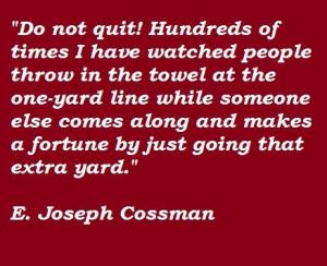 joseph cossman quotes | ... quotes of e joseph cossman e joseph ...