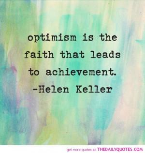Optimism: Key to Success