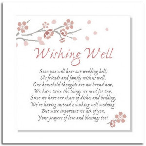 Wedding Shower Wishing Well Sayings