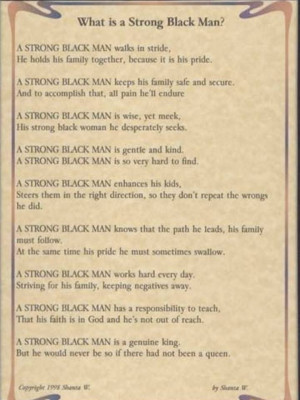 Strong Black Man Quotes What is a Strong Black Man