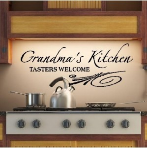 Grandmas Kitchen Wall Sayings Vinyl Lettering Quote Art on eBay!