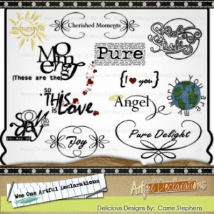 50% Sale - Baby Word Art - Digital Quotes, Titles for Scrapbooking and ...
