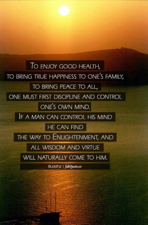 Buddha to enjoy good health and happiness quote