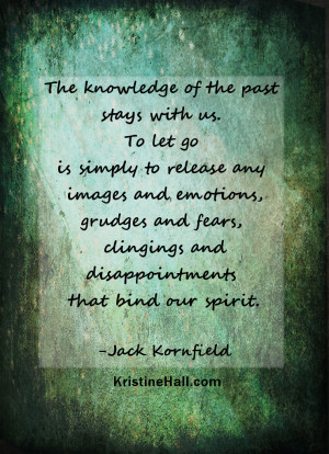 Jack Kornfield quote: letting go