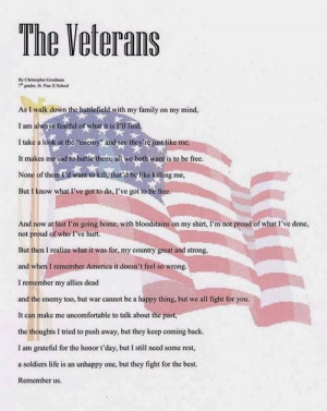 Veterans Day poems are by far the most popular of all the patriotic ...