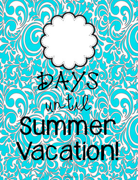 Summer Countdown & Currently April!