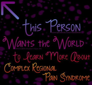 CRPS sucks, I am dedicated to surviving and helping others cope while ...