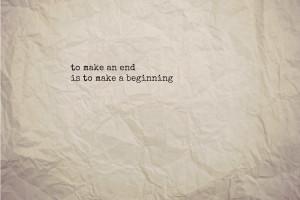 beginnings -> endings -> beginnings