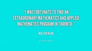 was fortunate to find an extraordinary mathematics and applied ...