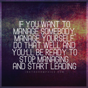 Stop Managing And Start Leading Quote Graphic