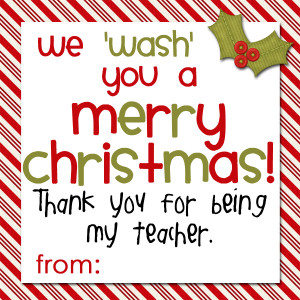Soap Gift Tags for Teachers