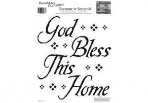 God Bless This Home Peel & Stick Single Sheet