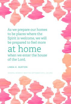 As we prepare our homes to be places where the Spirit is welcome, we ...