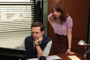 Still of Ellie Kemper and Erin Hannon in The Office