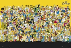 THE SIMPSONS - cast quotes Poster / Kunst Poster