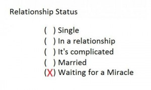 Relationship status: single. In a relationship. It's complicated ...