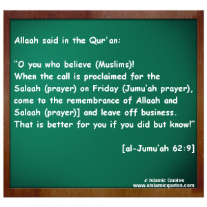 Islamic Quotes about Jummah (Friday)