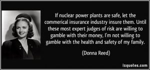 If nuclear power plants are safe, let the commerical insurance ...