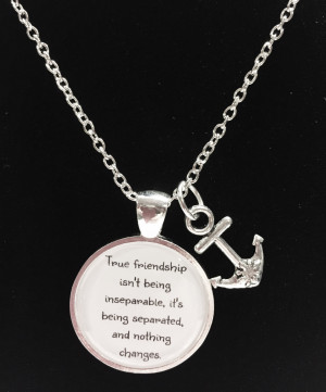 ... Anchor True Friendship Long Distance Quote Best Friends BFF Necklace