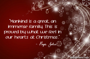 ... family. This is proved by what we feel in our hearts at Christmas