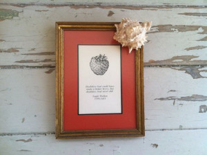 Izaak Walton Strawberry print and quote by happydayantiques, $18.50