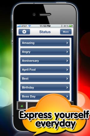 Funny Status Shuffle for Facebook - Quotes & Statuses Updates