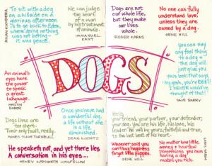 Dog Quotes Loss Loving a dog