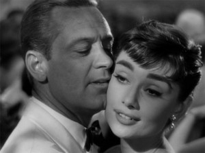 William Holden and Audrey Hepburn in Billy Wilder's