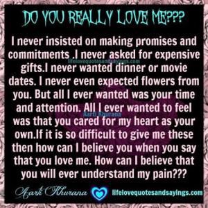Do You Really Love Me???