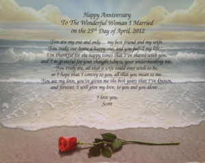 Anniversary Gift for Wife Personalized Poem 1st 5th 10th 15th 20th ...