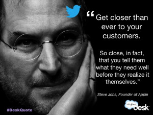 Steve Jobs, Founder of Apple #customerservice #quotes