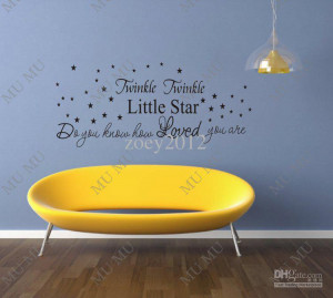 Twinkle twinkle little star cute wall quotes sayings vinyl decal art ...