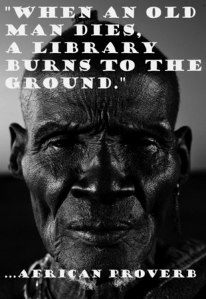 When an old man dies, a library burns to the ground.