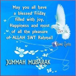 Jumuah Mubarak Happy Friday Quotes