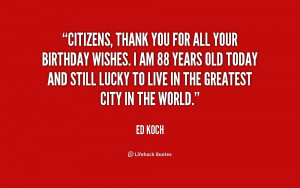 Birthday Thank You All Quotes