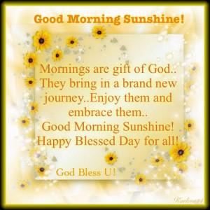 Good Morning Sunshine Jamie